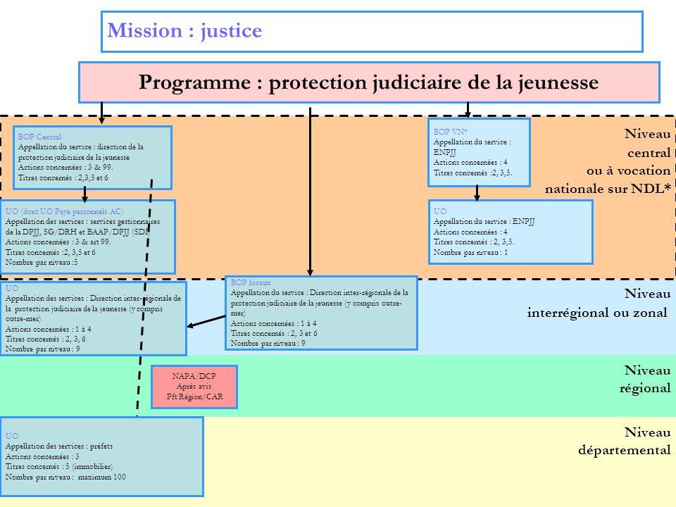 Programme : protection judiciaire de la jeunesse