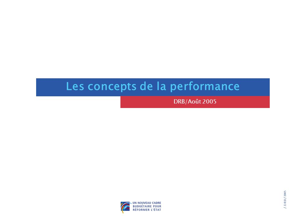 Les concepts de la performance
