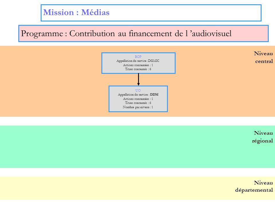 Programme : Contribution au financement de l 'audiovisuel