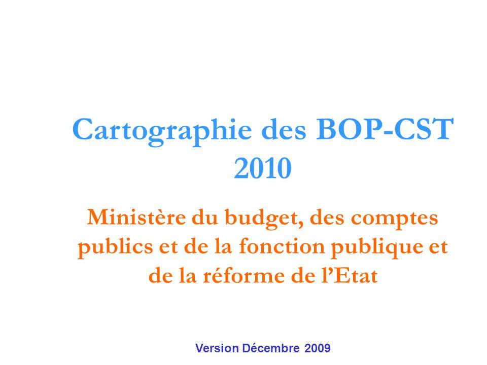 Cartographie des BOP-CST 2010