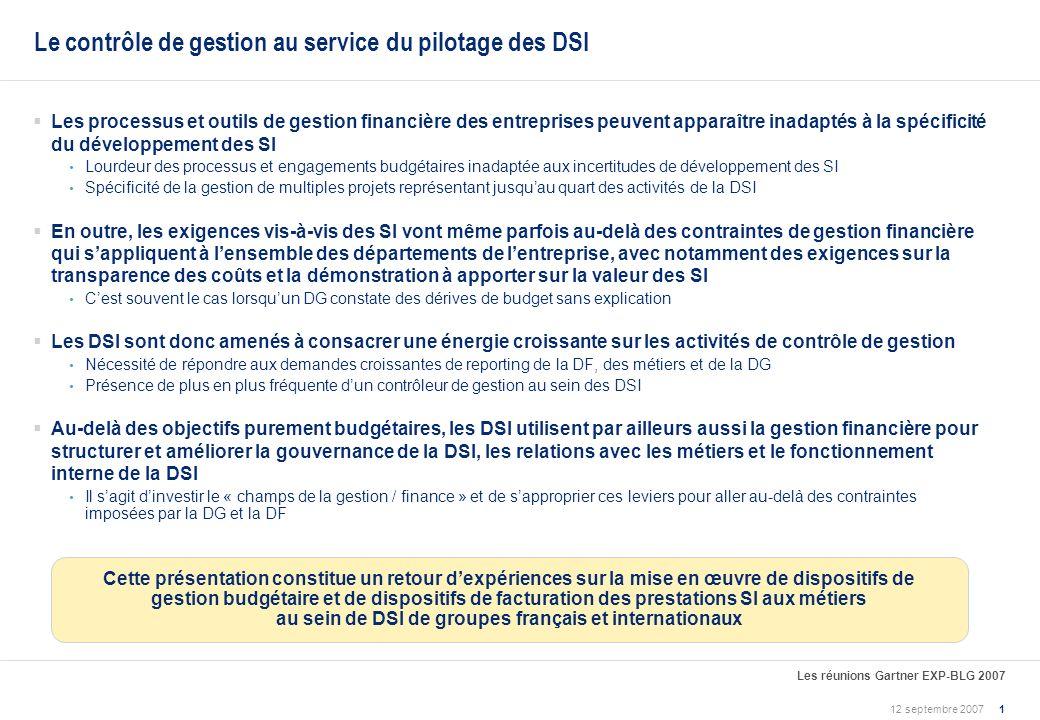 Le contrôle de gestion au service du pilotage des DSI