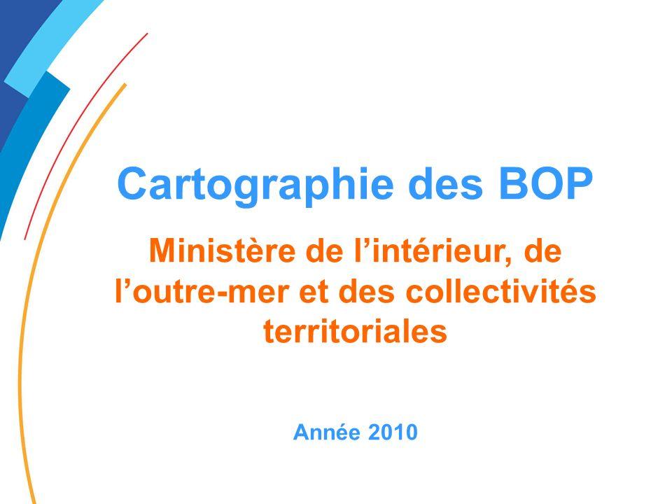 Cartographie des BOP Ministère de l'intérieur, de l'outre-mer et des collectivités territoriales.