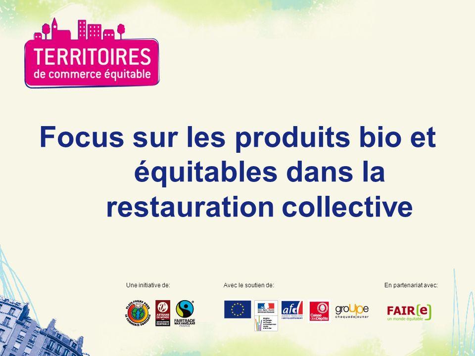 Focus sur les produits bio et équitables dans la restauration collective