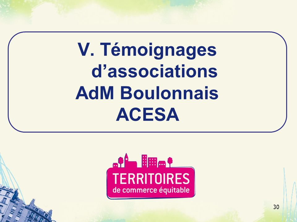 Témoignages d'associations