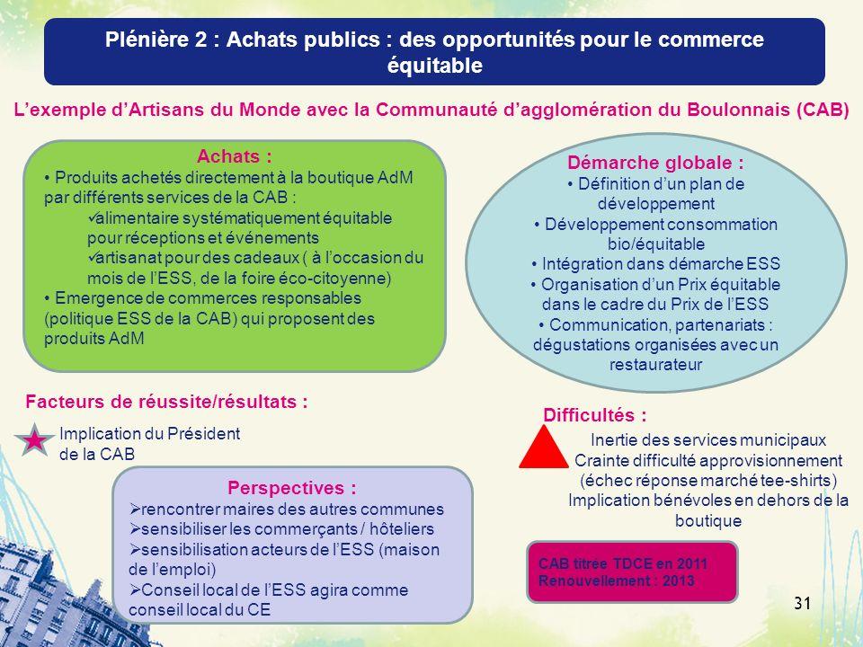Plénière 2 : Achats publics : des opportunités pour le commerce équitable