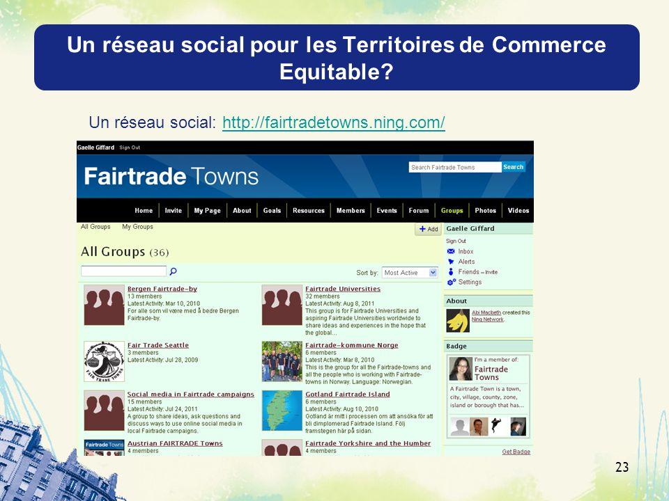 Un réseau social pour les Territoires de Commerce Equitable