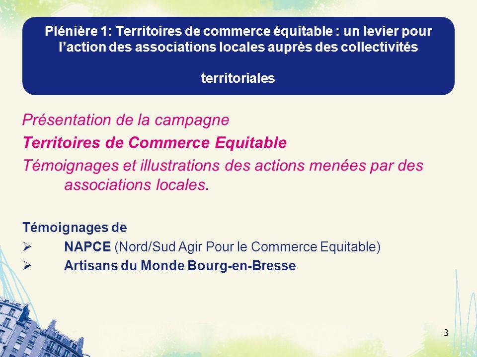 Présentation de la campagne Territoires de Commerce Equitable