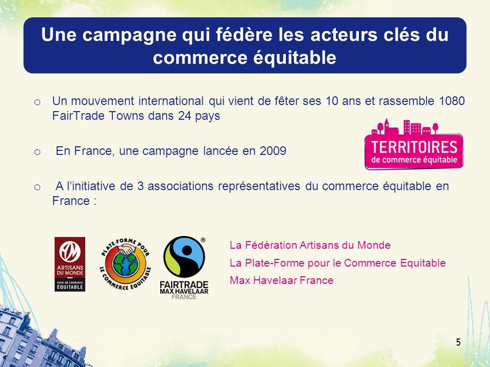 Une campagne qui fédère les acteurs clés du commerce équitable