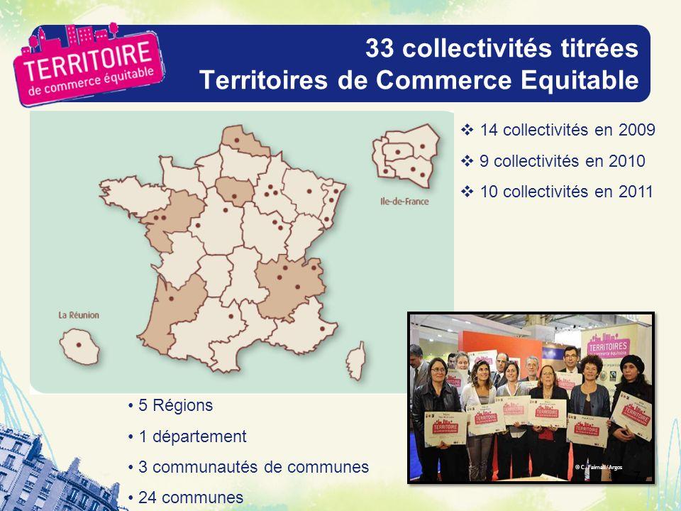 33 collectivités titrées Territoires de Commerce Equitable