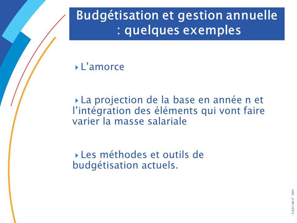 Budgétisation et gestion annuelle