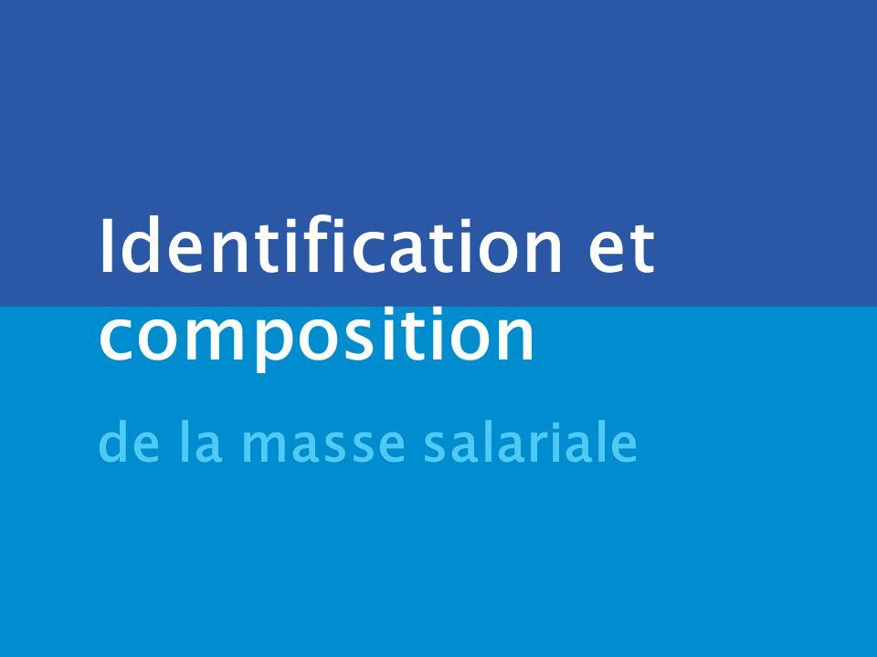 Identification et composition