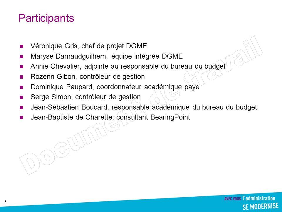Participants Véronique Gris, chef de projet DGME