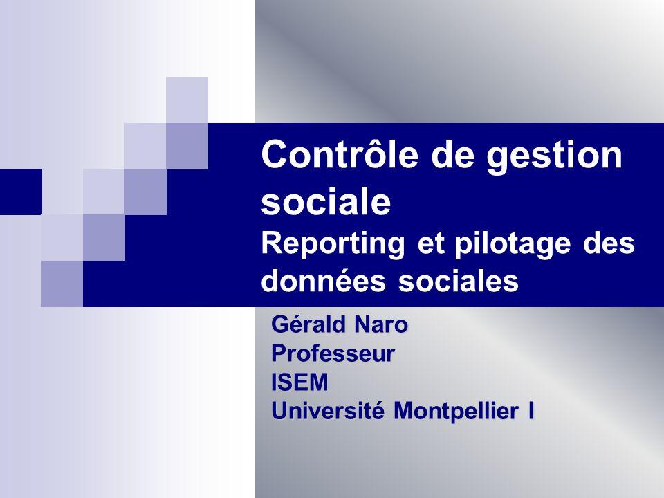 Contrôle de gestion sociale Reporting et pilotage des données sociales