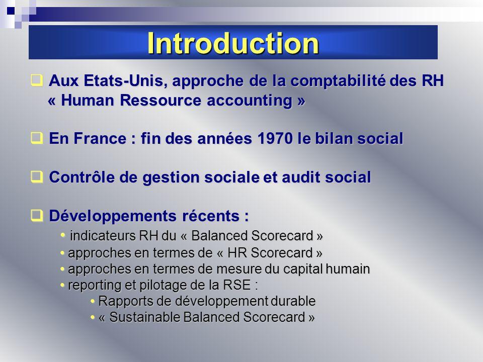 Introduction Aux Etats-Unis, approche de la comptabilité des RH