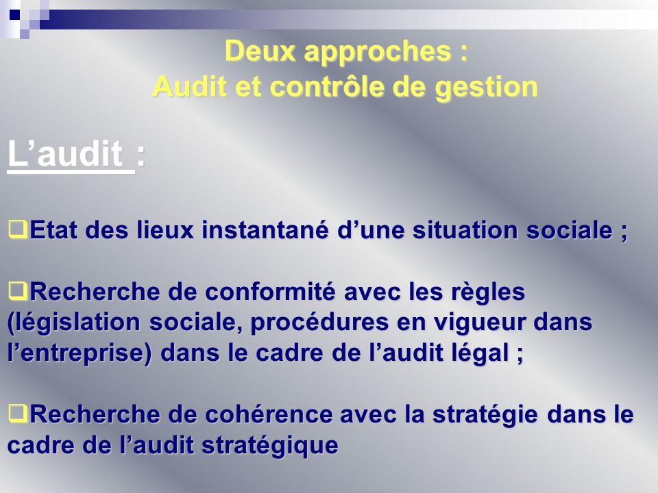 Audit et contrôle de gestion