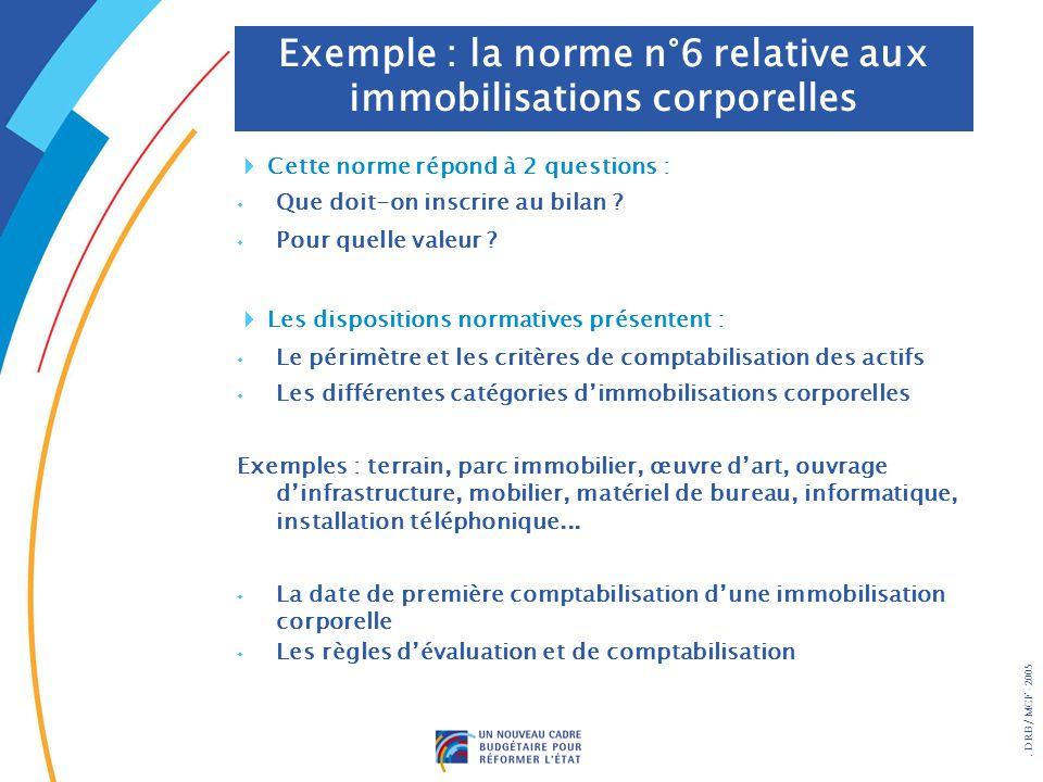 Exemple : la norme n°6 relative aux immobilisations corporelles