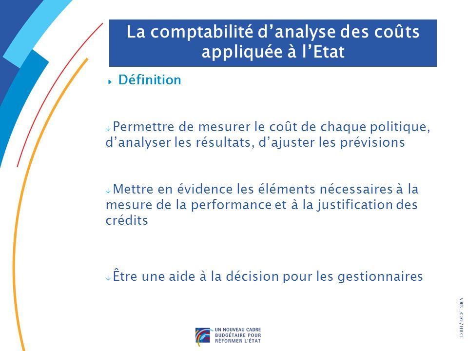 La comptabilité d'analyse des coûts appliquée à l'Etat