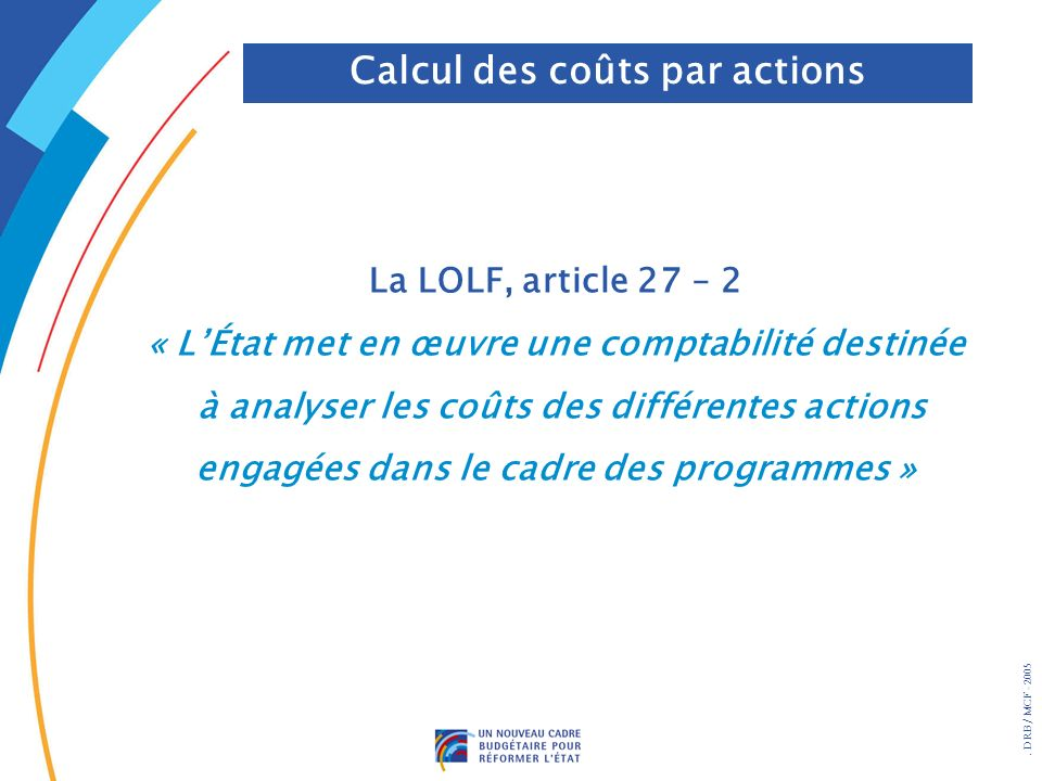 Calcul des coûts par actions