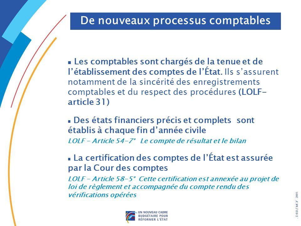De nouveaux processus comptables