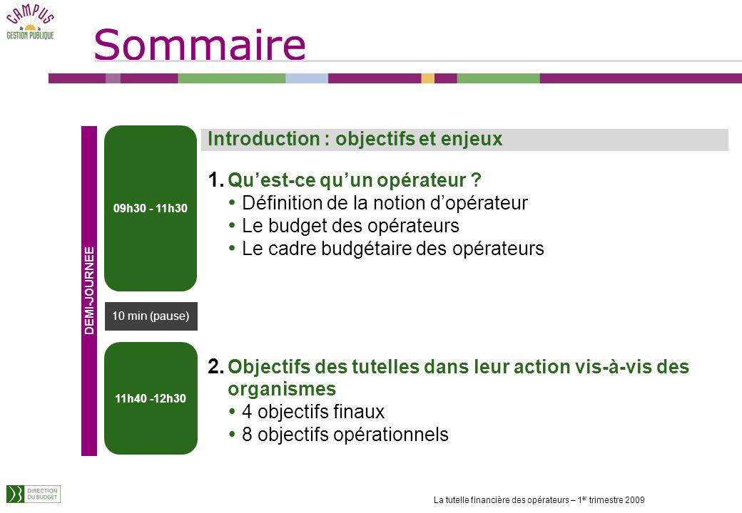 Sommaire Introduction : objectifs et enjeux