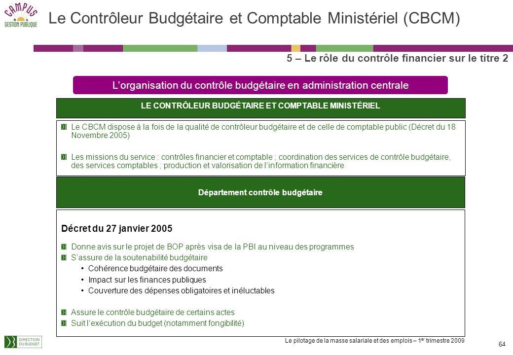 Le Contrôleur Budgétaire et Comptable Ministériel (CBCM)