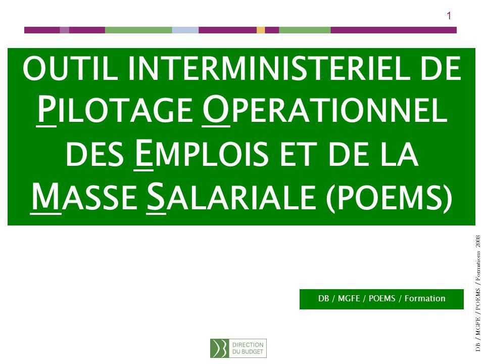 PILOTAGE OPERATIONNEL DES EMPLOIS ET DE LA MASSE SALARIALE (POEMS)
