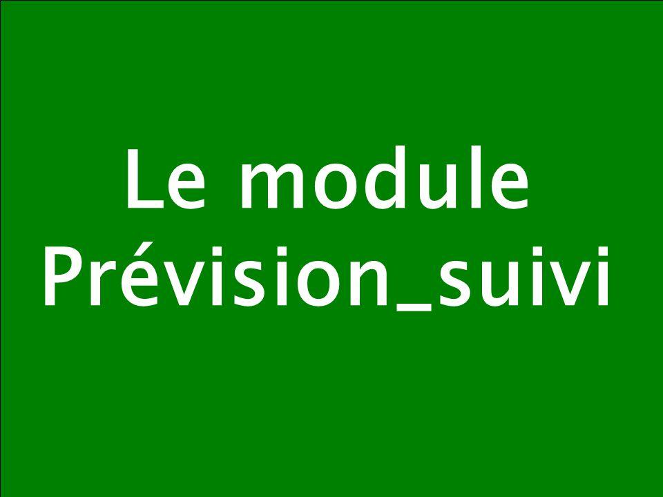Le module Prévision_suivi
