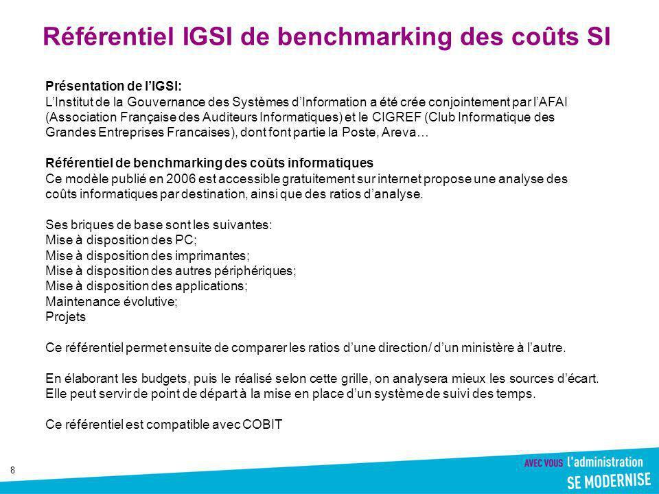 Référentiel IGSI de benchmarking des coûts SI