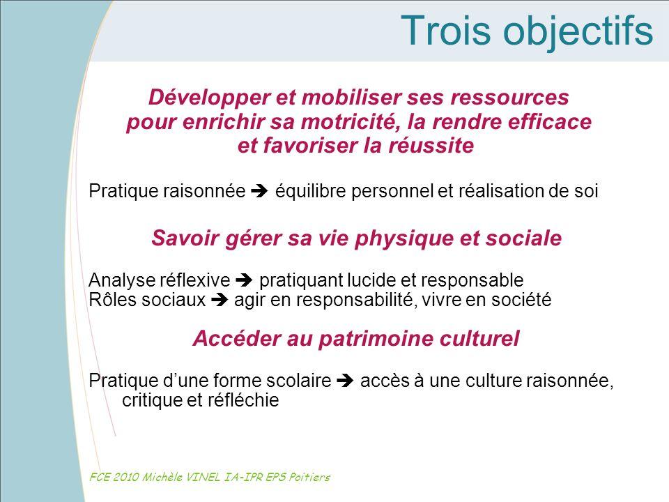 Trois objectifs Développer et mobiliser ses ressources