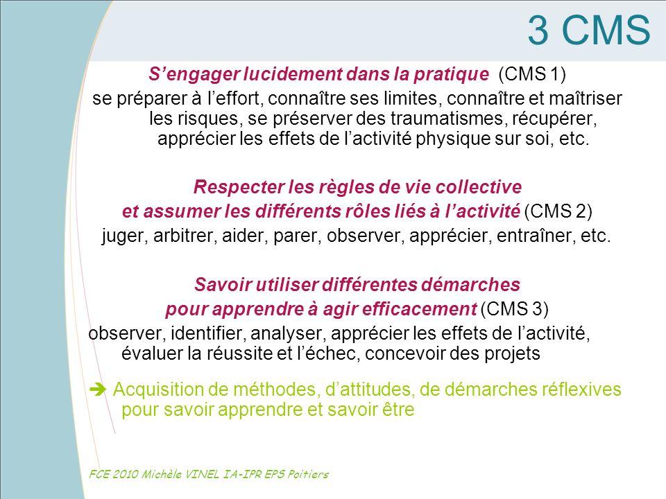 3 CMS S'engager lucidement dans la pratique (CMS 1)