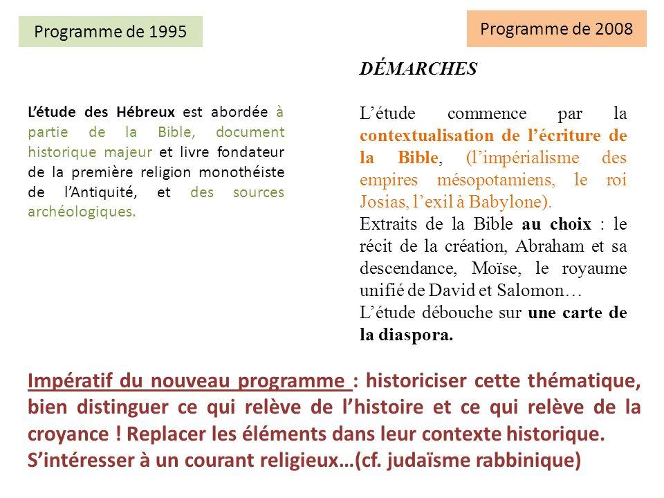 S'intéresser à un courant religieux…(cf. judaïsme rabbinique)