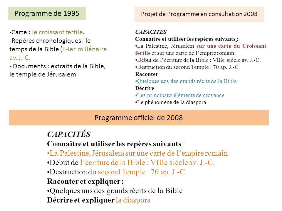 Projet de Programme en consultation 2008