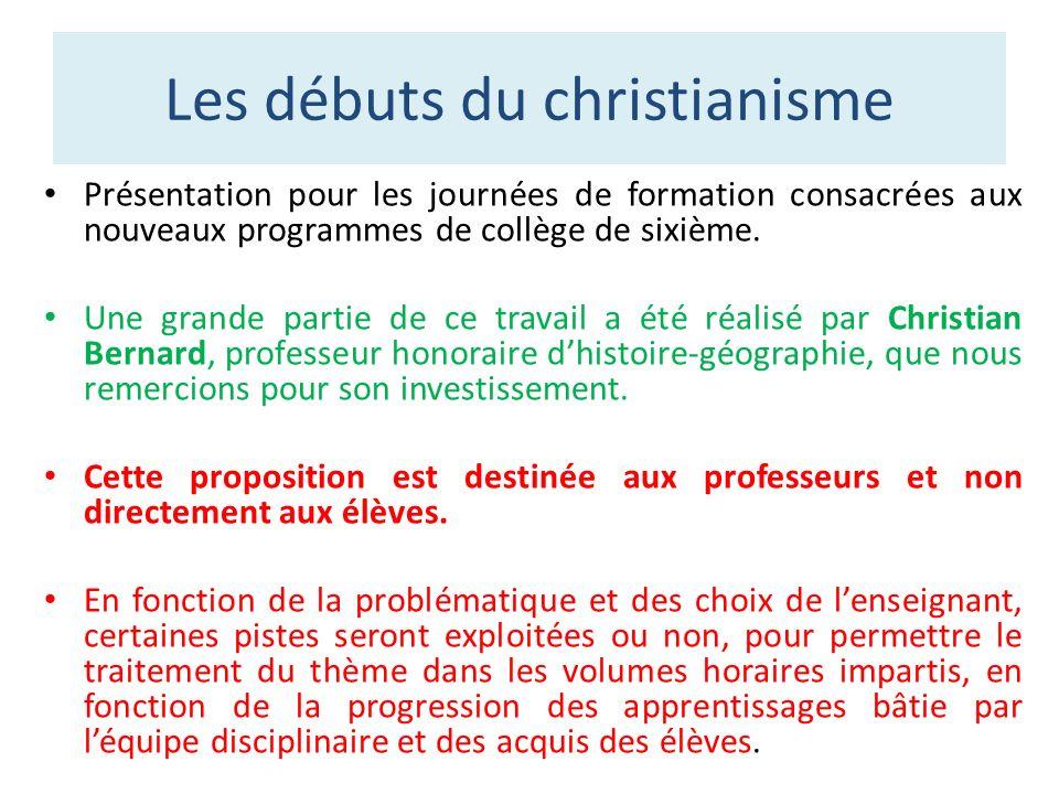 Les débuts du christianisme