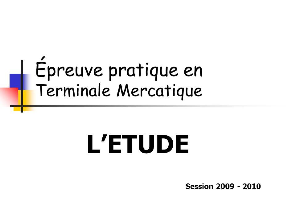 Épreuve pratique en Terminale Mercatique
