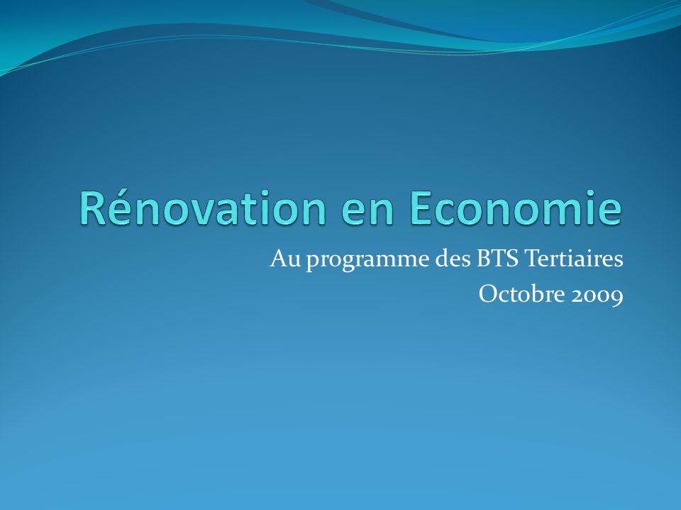 Rénovation en Economie
