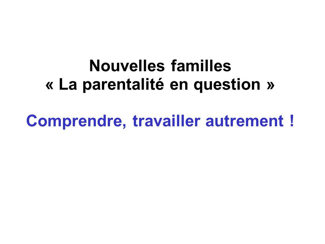 Nouvelles familles « La parentalité en question » Comprendre, travailler autrement !