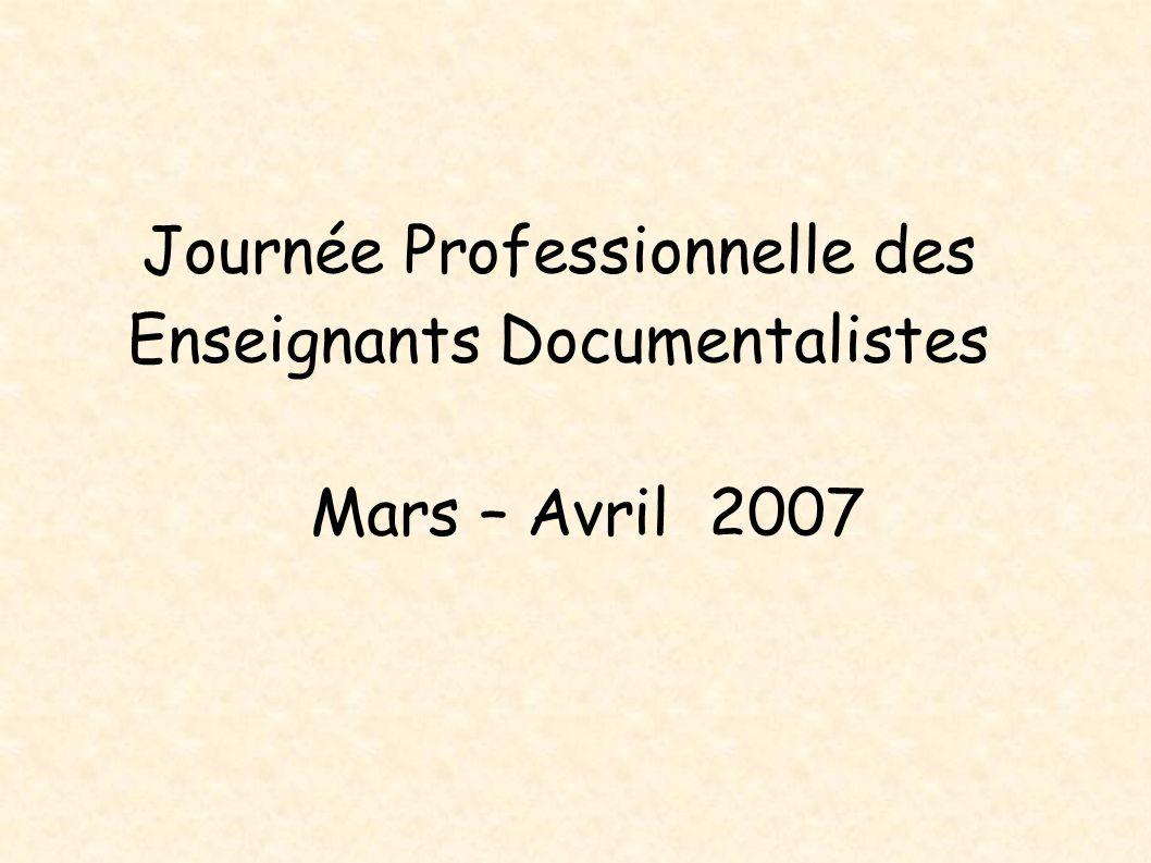Journée Professionnelle des Enseignants Documentalistes