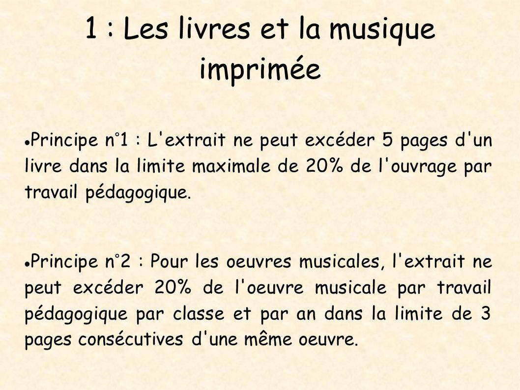 1 : Les livres et la musique imprimée