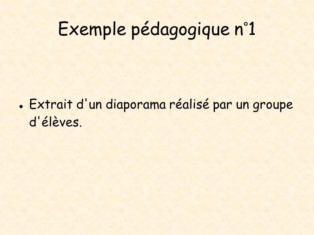 Exemple pédagogique n°1