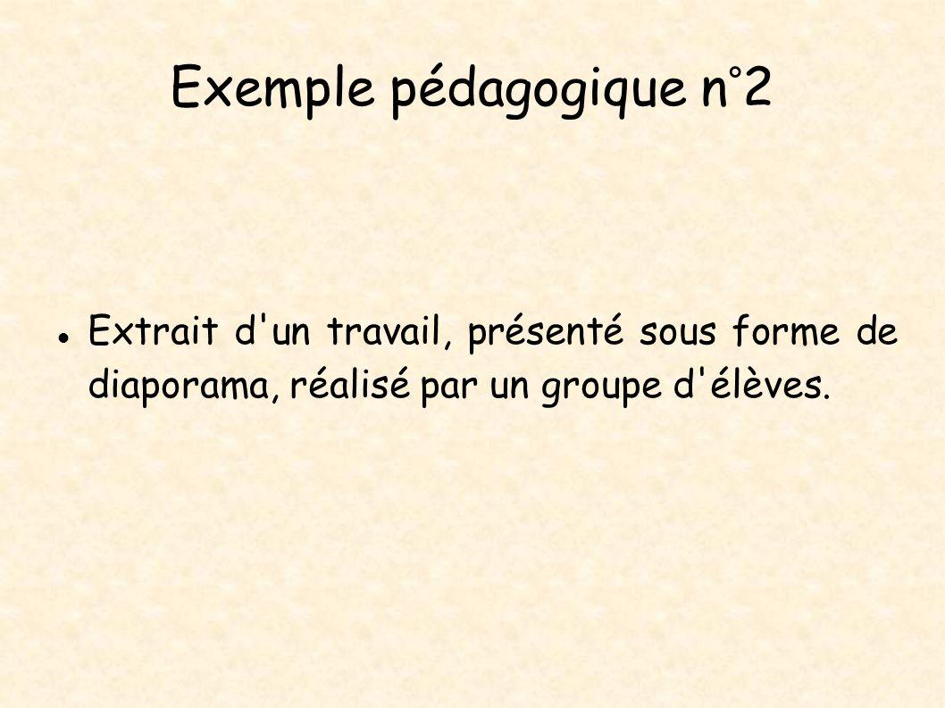 Exemple pédagogique n°2