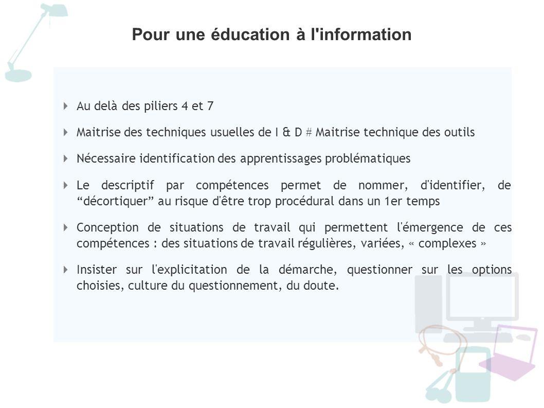 Pour une éducation à l information
