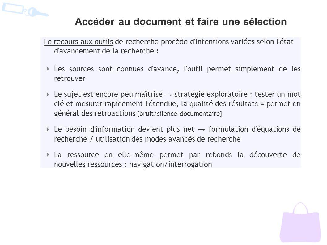 Accéder au document et faire une sélection