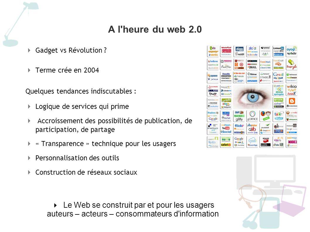 A l heure du web 2.0 Le Web se construit par et pour les usagers