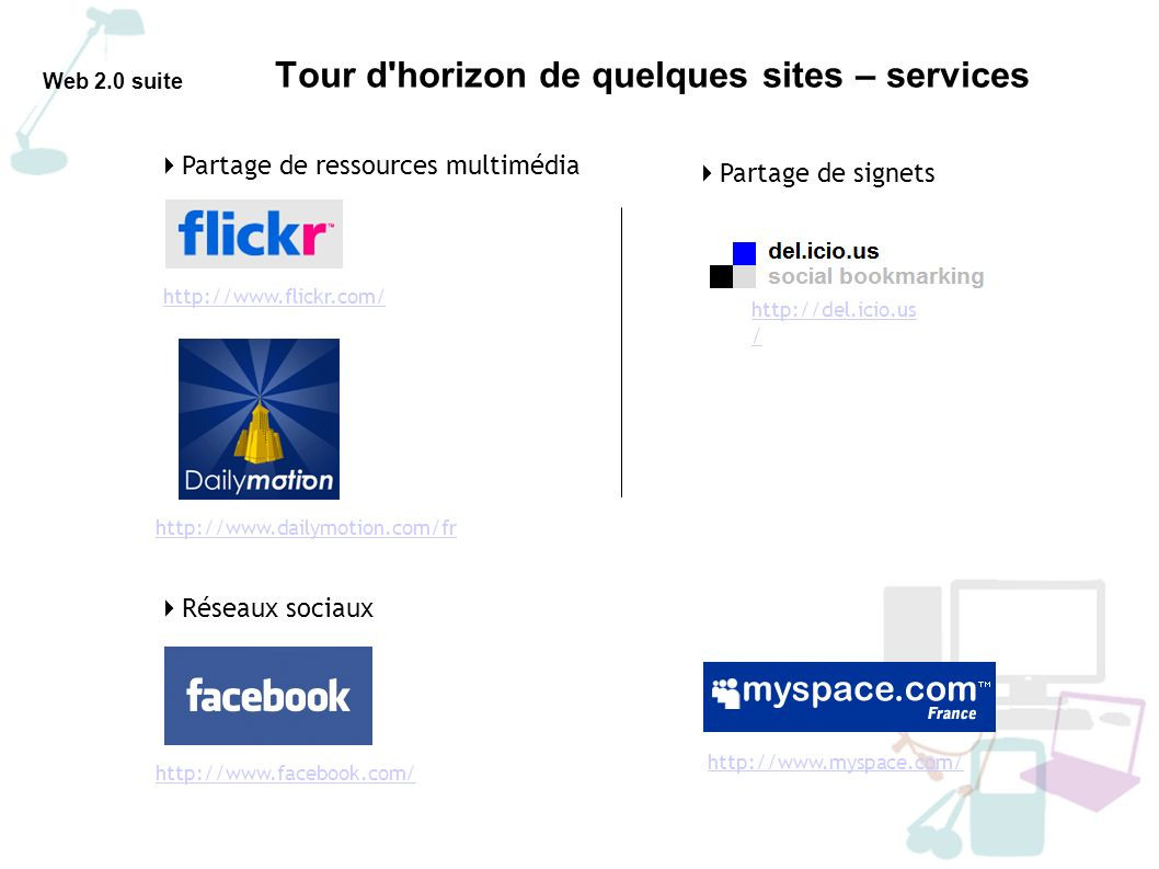 Tour d horizon de quelques sites – services