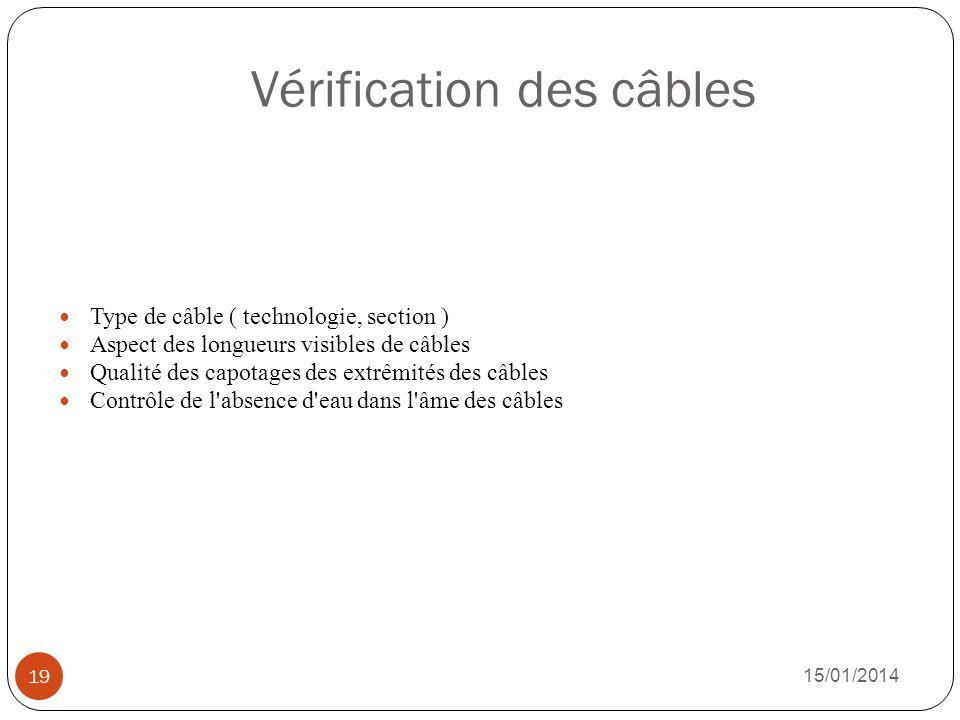 Vérification des câbles