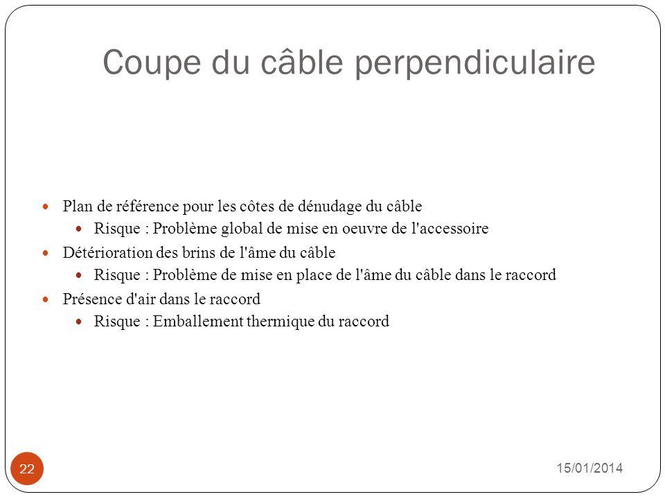 Coupe du câble perpendiculaire