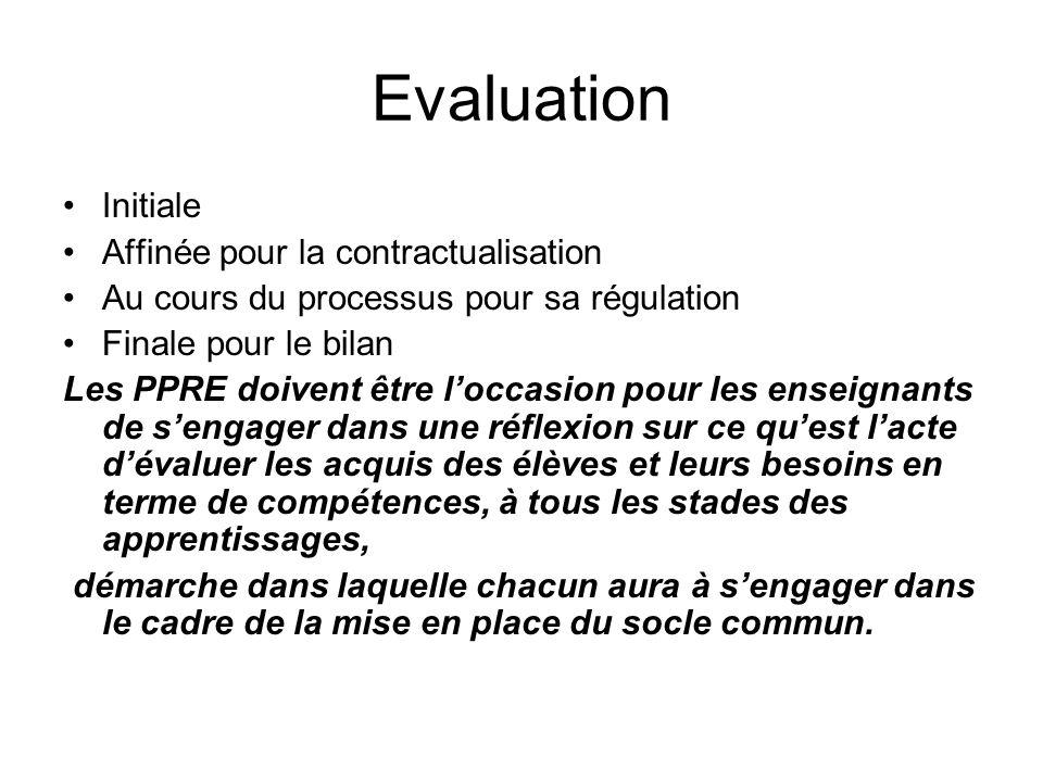 Evaluation Initiale Affinée pour la contractualisation