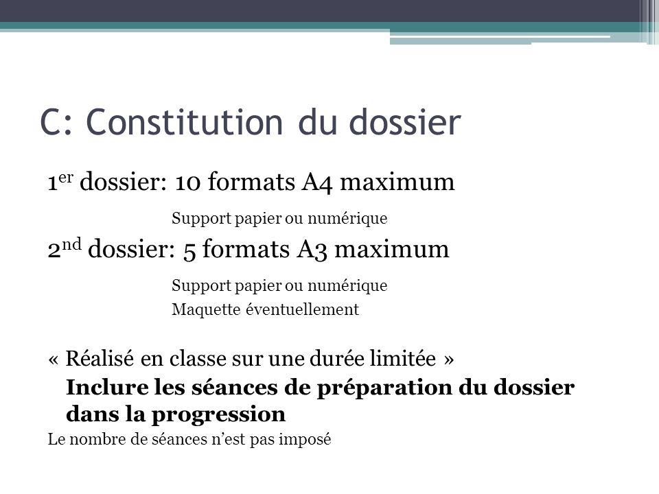 C: Constitution du dossier