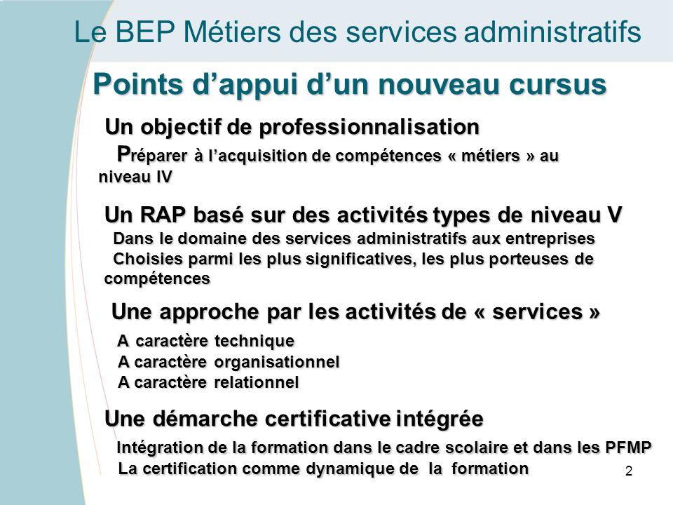 Le BEP Métiers des services administratifs