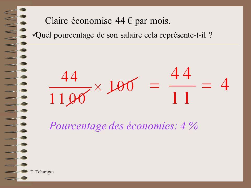 Pourcentage des économies: 4 %